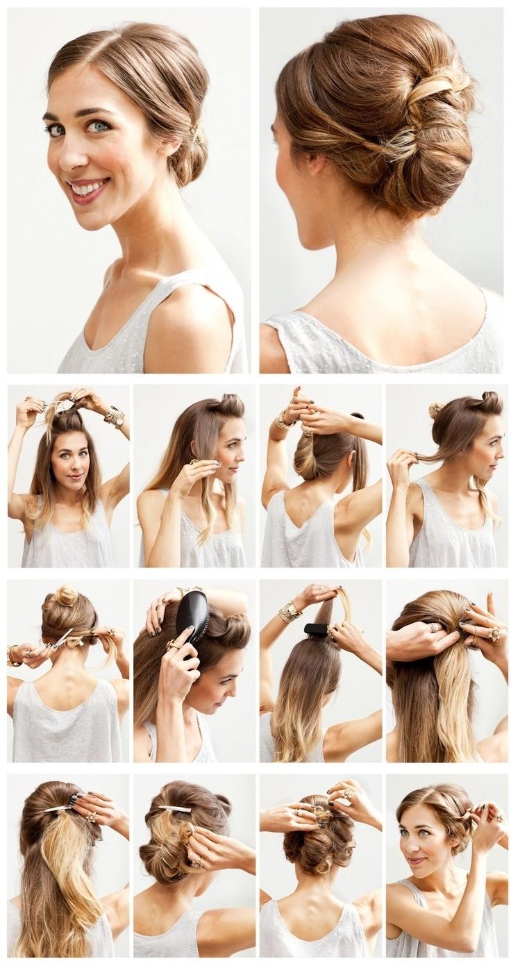Tutoriel de coiffures de mariage faciles: Chignon Updo pour les demoiselles d'honneur