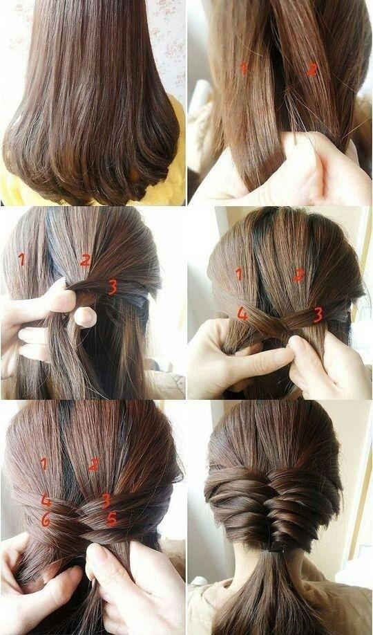 Coiffures tresses faciles pour cheveux raides moyens