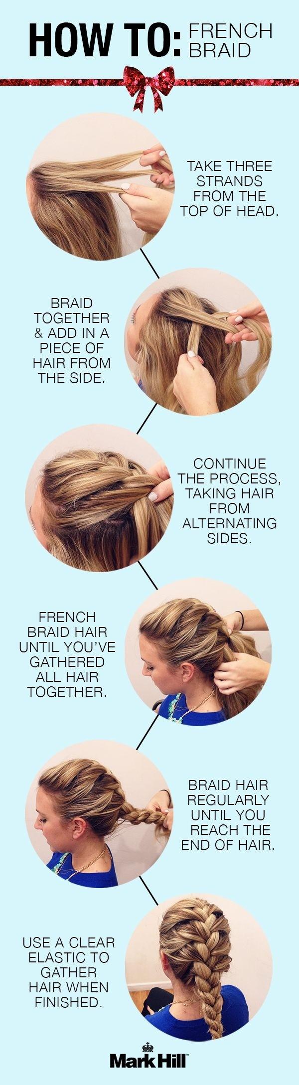 Comment faire des coiffures tressées à la française: Tutoriel de tresse classique