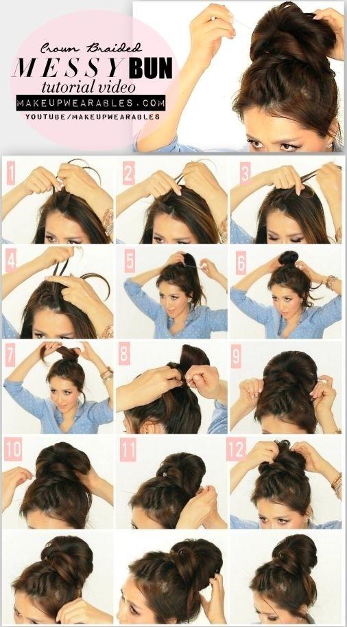 Tutoriel sur les coiffures de mariage: chignon haut tressé en queue de poisson