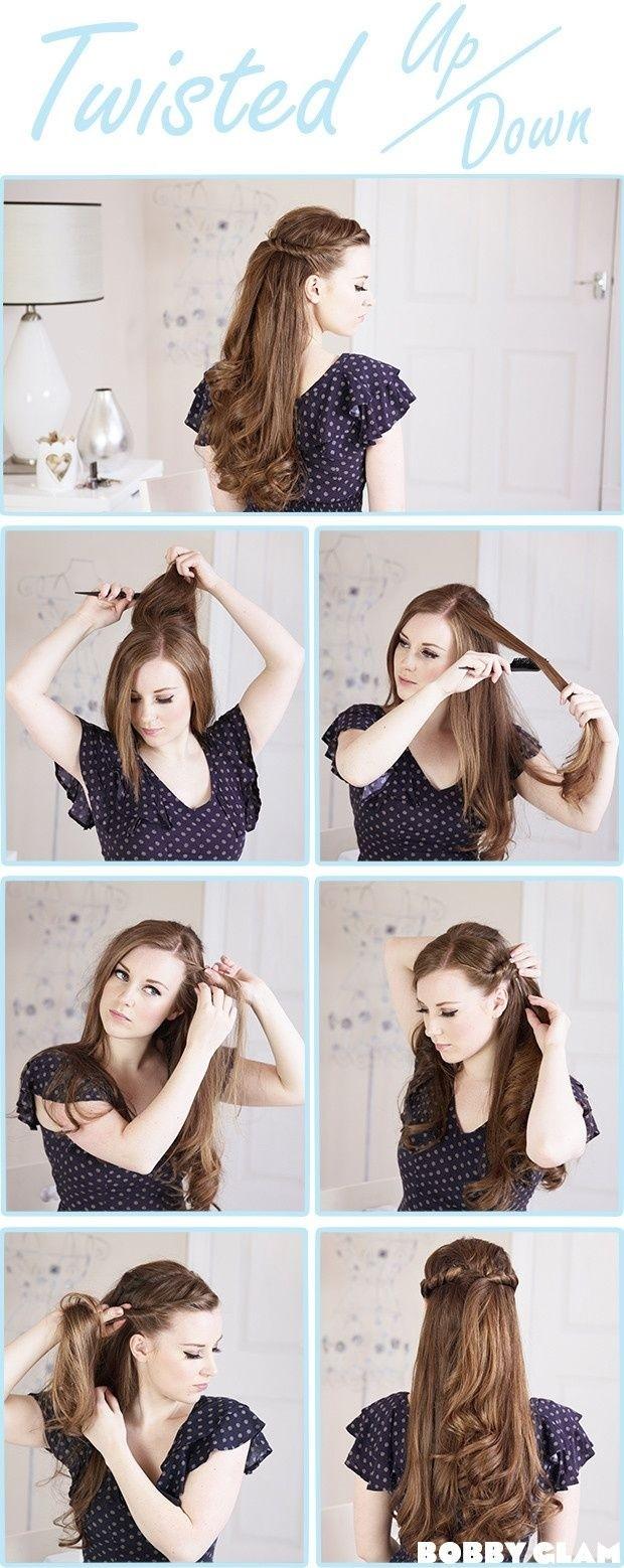 Tutoriel Twisted Half Up Half Down Hair: Coiffures de mariage faciles