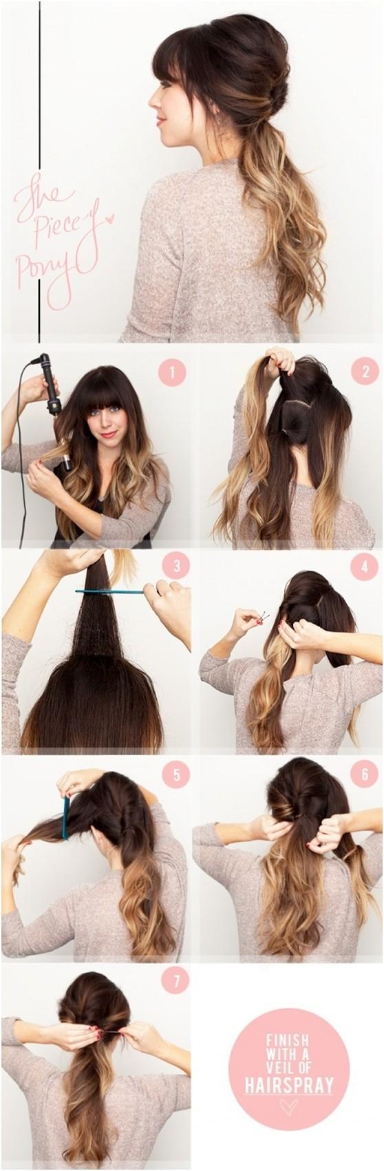 Ombre Ponytail: Tutoriels de coiffures pour queues de cheval mignonnes et faciles