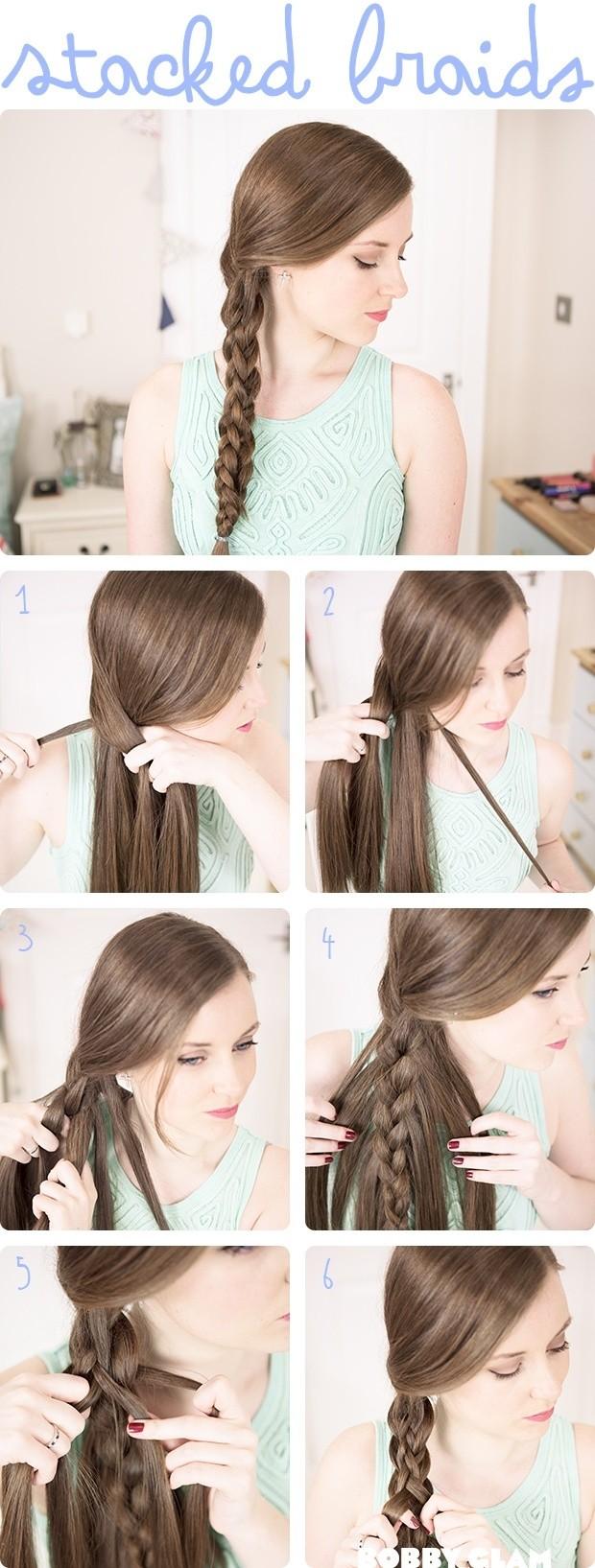 Comment coiffer : Tutoriel sur les tresses empilées