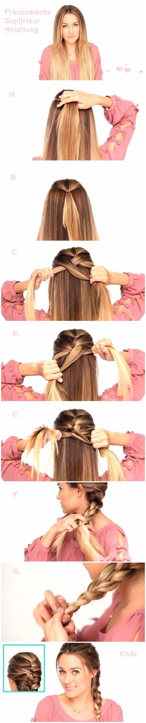 Tutoriels de coiffures tressées faciles: Coiffure à la mode pour cheveux longs et raides