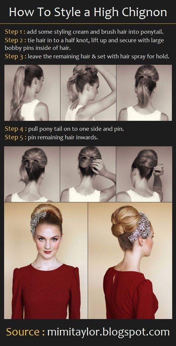 Tutoriel sur les coiffures de haut chignon pour le mariage: coiffure de mariée