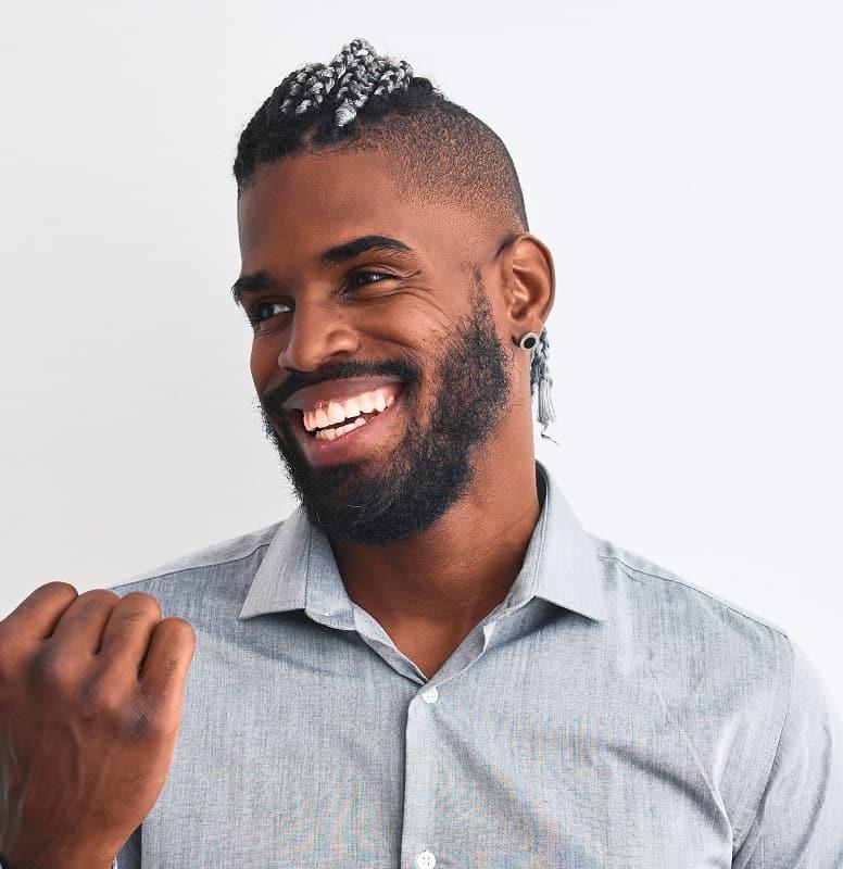 fondu conique pour les hommes noirs