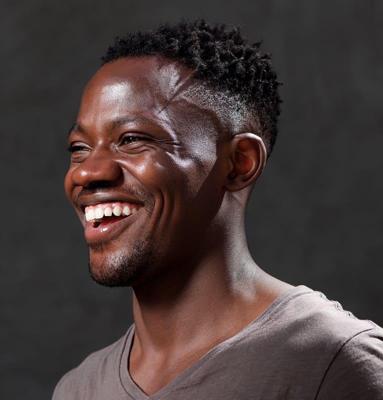 fondu de cône afro pour les hommes noirs