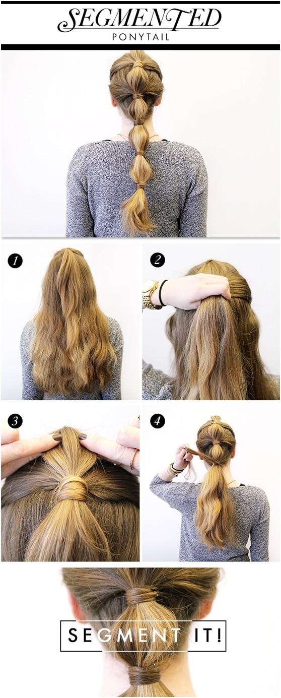 Tutoriel de coiffure en queue de cheval de vacances: idées de cheveux longs