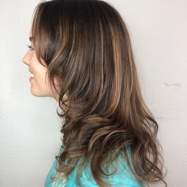 cheveux bruns chocolat