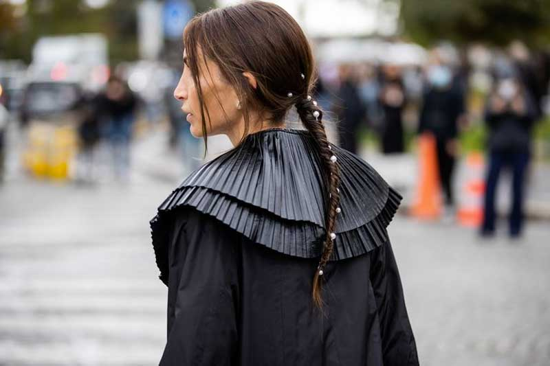 coiffures avec des tresses de perles