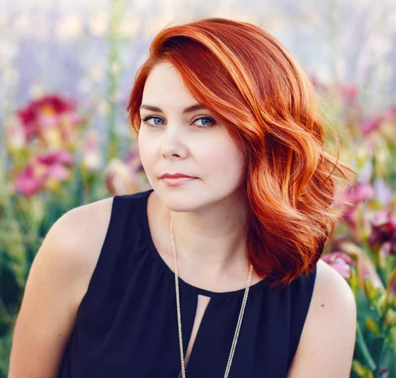 cheveux de balayage d'automne