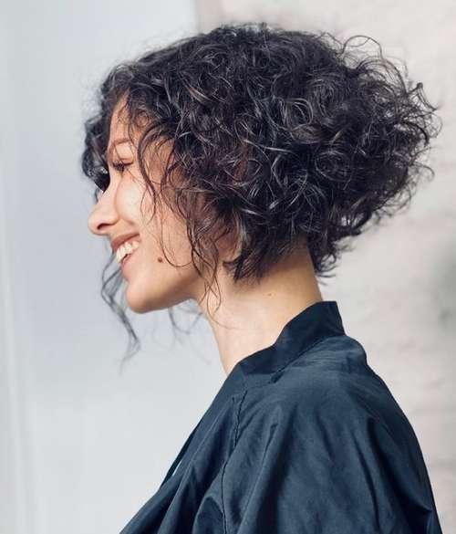 Coupes de cheveux tendance pour cheveux bouclés